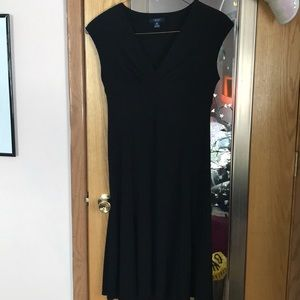 Chaps Ralph Lauren Classic Black A line dress